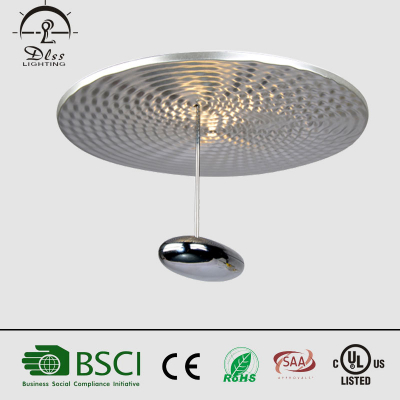 LED oval shade ceiling lamp modern metal water drops for hotel with CE UL SAA