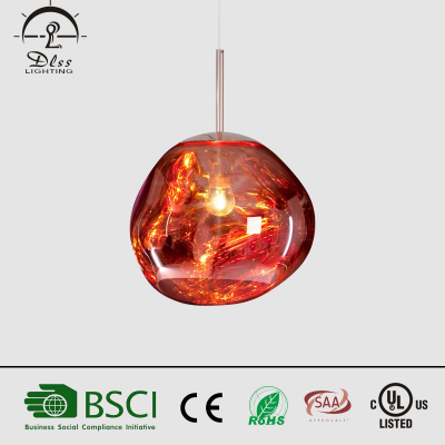 2017Newest LED glass molecular structure sphere chandelier creative hanging design
