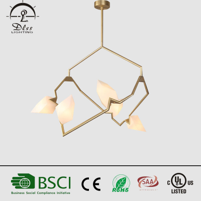 Modern Iron +Glass LED Chandelier Simple Creative Personality Bedroom Dining Room Living Room Lamp