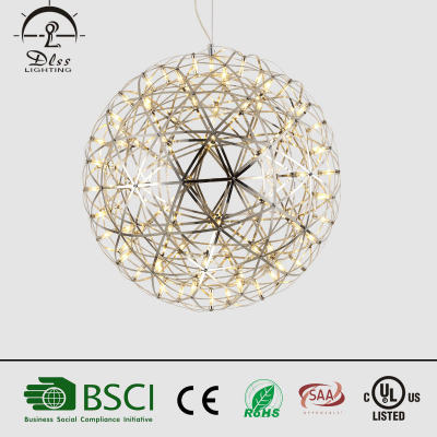 Hot sales LED Lighting Stainless Steel Ball Chandelier with CE UL