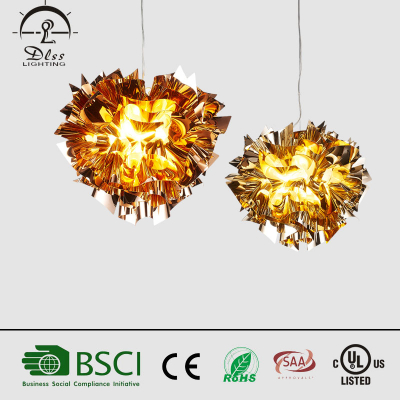 2017 Creative E27 flower shape modern new design chandelier for decorate hotel and restaurant