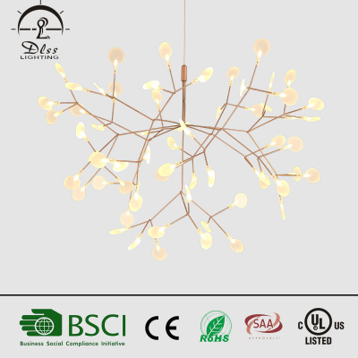 Hot sale LED Hanging light modern decorate interior creative branch chandelier