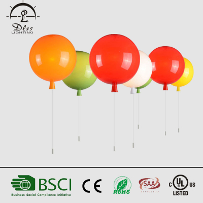 Hot sales modern simple colourful ballon ceiling light for kids room