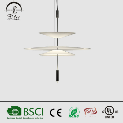 2017 modern latest simple design villa decoration hanging  LED acrylic chandelier